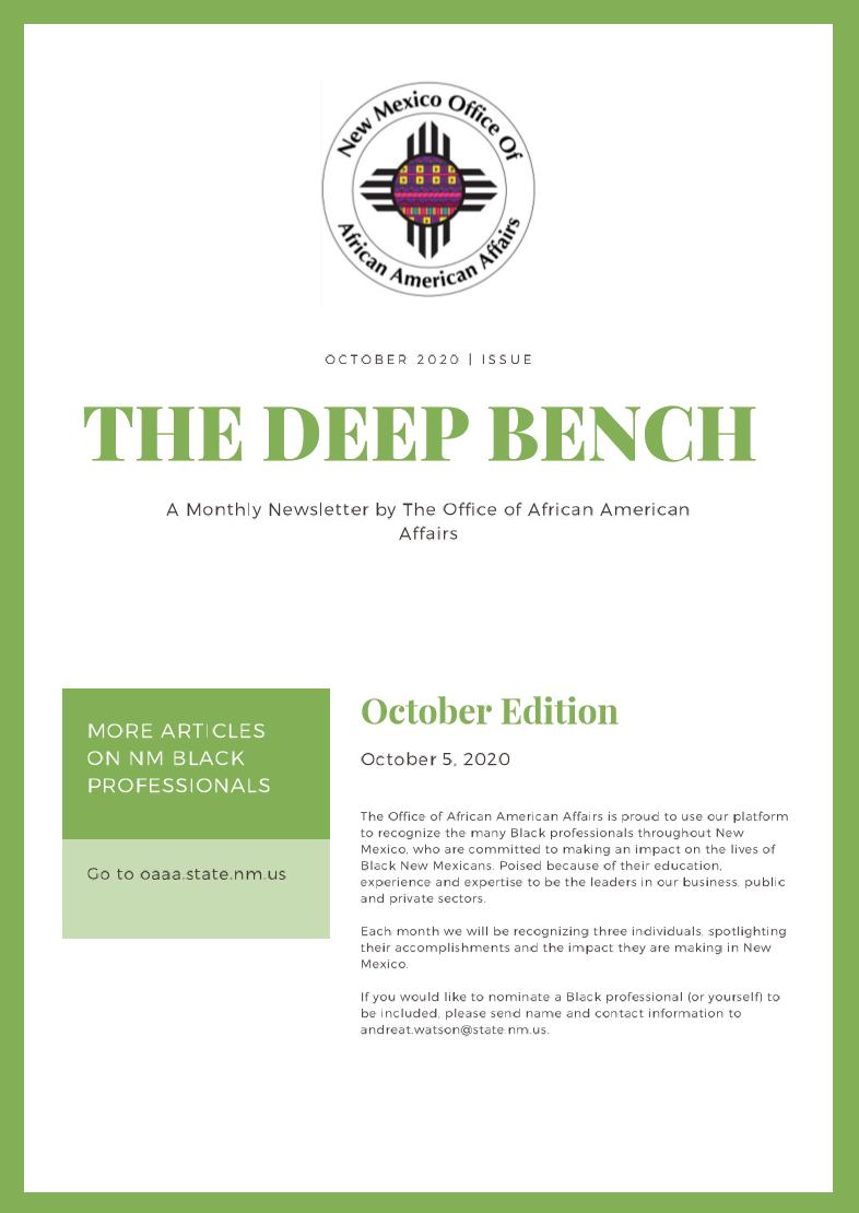 Deep Bench – October Issue