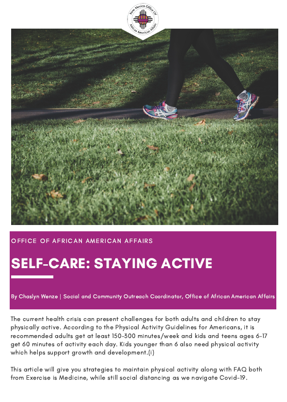 Self-Care: Staying Active