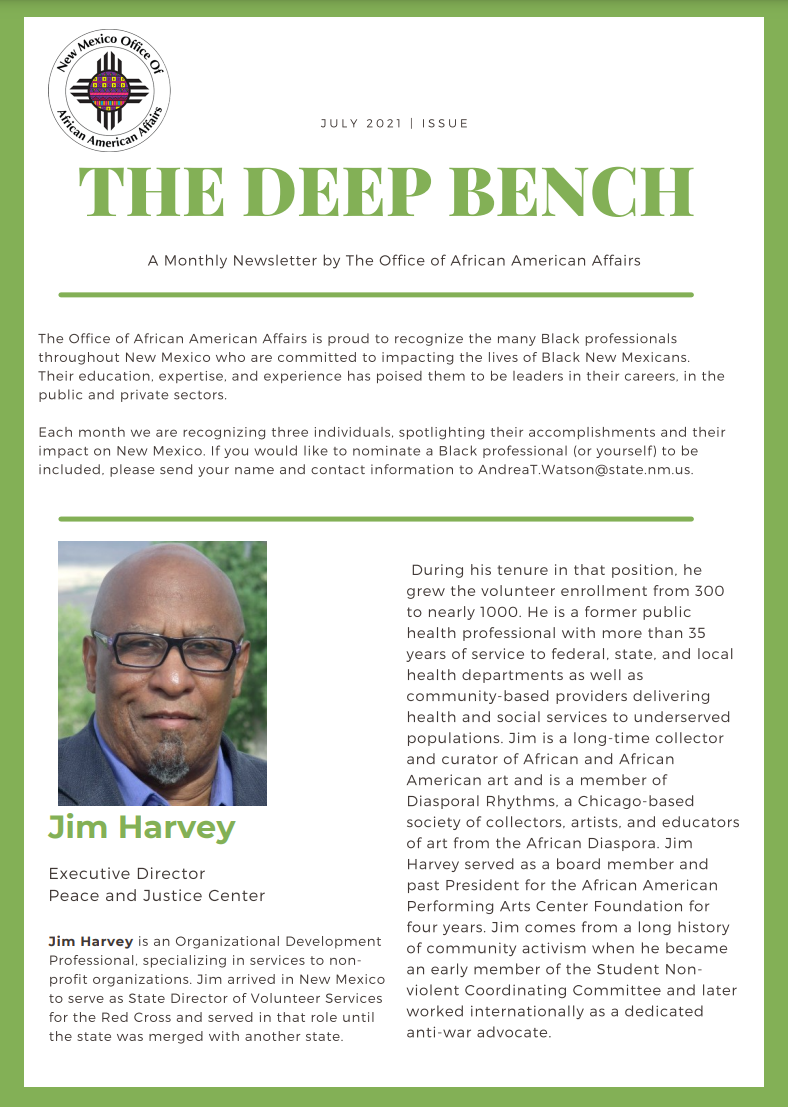 Deep Bench – July Issue